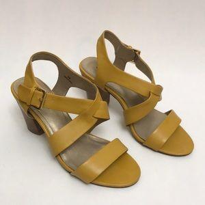 Bandolino Sandals Heeled Yellow size 8